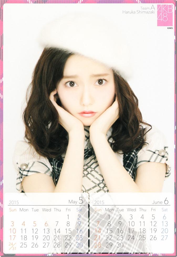 Shimazaki Haruka 2015 desktop calendar (4)
