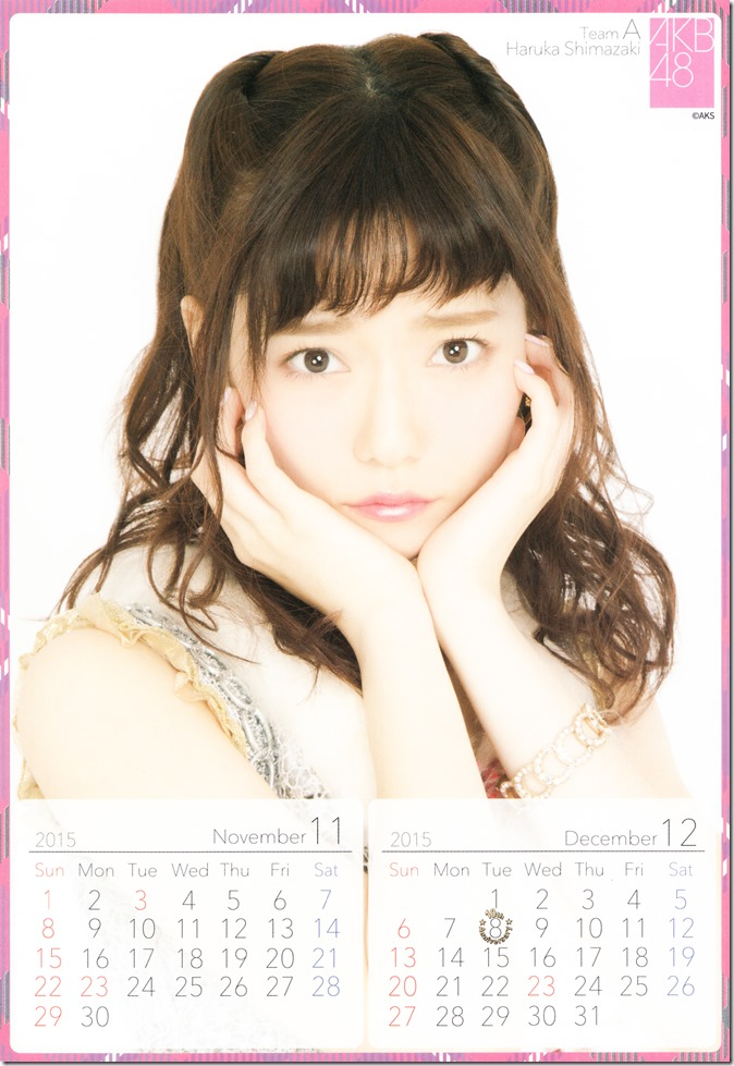 Shimazaki Haruka 2015 desktop calendar (7)