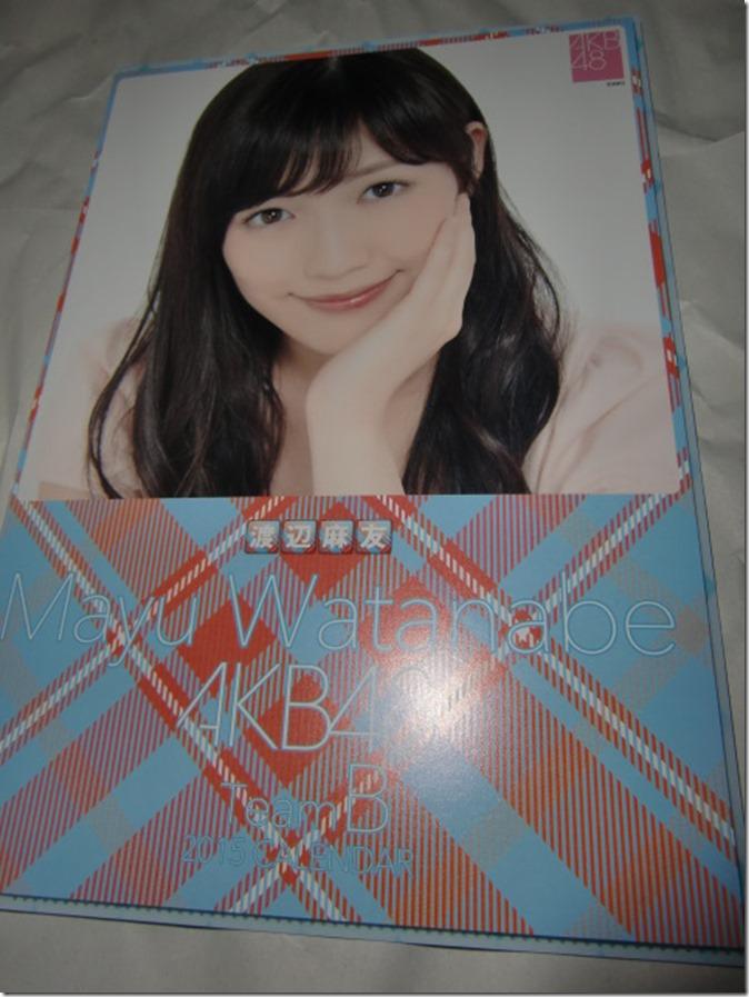 Watanabe Mayu 2015 desktop calendar (1)