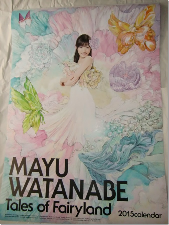 Watanabe Mayu 2015 Wall Calendar (1)