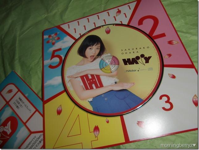 Ohara Sakurako HAPPY EP release version, HAPPY GAME spinner (CD holder)