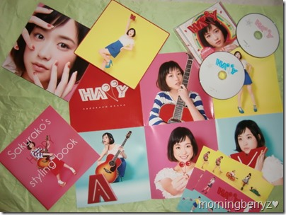 Ohara Sakurako HAPPY LE with DVD album & LE EP version releases with first press sticker sheets