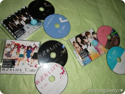 C-ute The Middle Management ~Josei Chuukan Kanrishoku~,Gamusha LIFE,Tsugi no Kado wo Magare triple A side single release