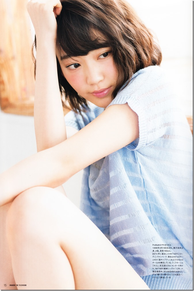 GRAVURE THE TELEVISION Vol.40 June 2nd, 2015 issue featuring Covergirl Miyawaki Sakura (17)