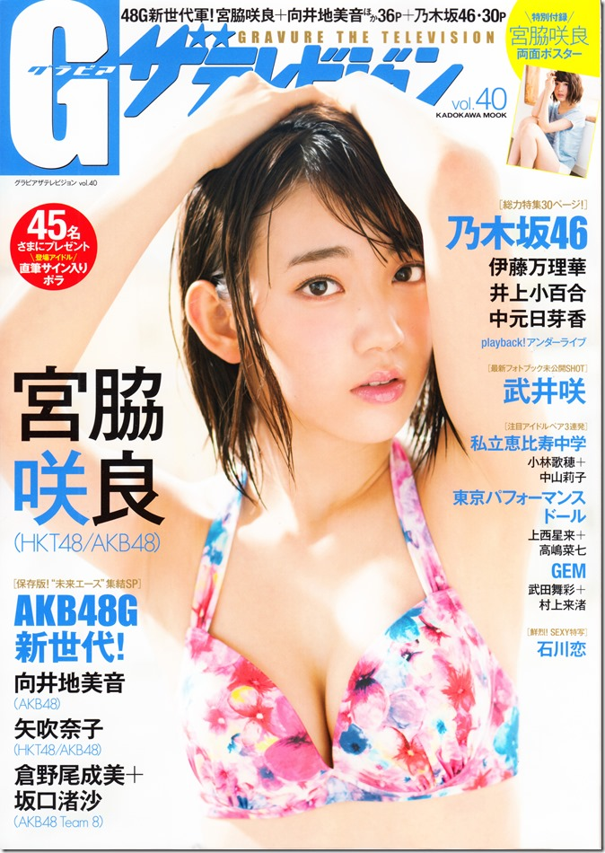 GRAVURE THE TELEVISION Vol.40 June 2nd, 2015 issue featuring Covergirl Miyawaki Sakura (1)