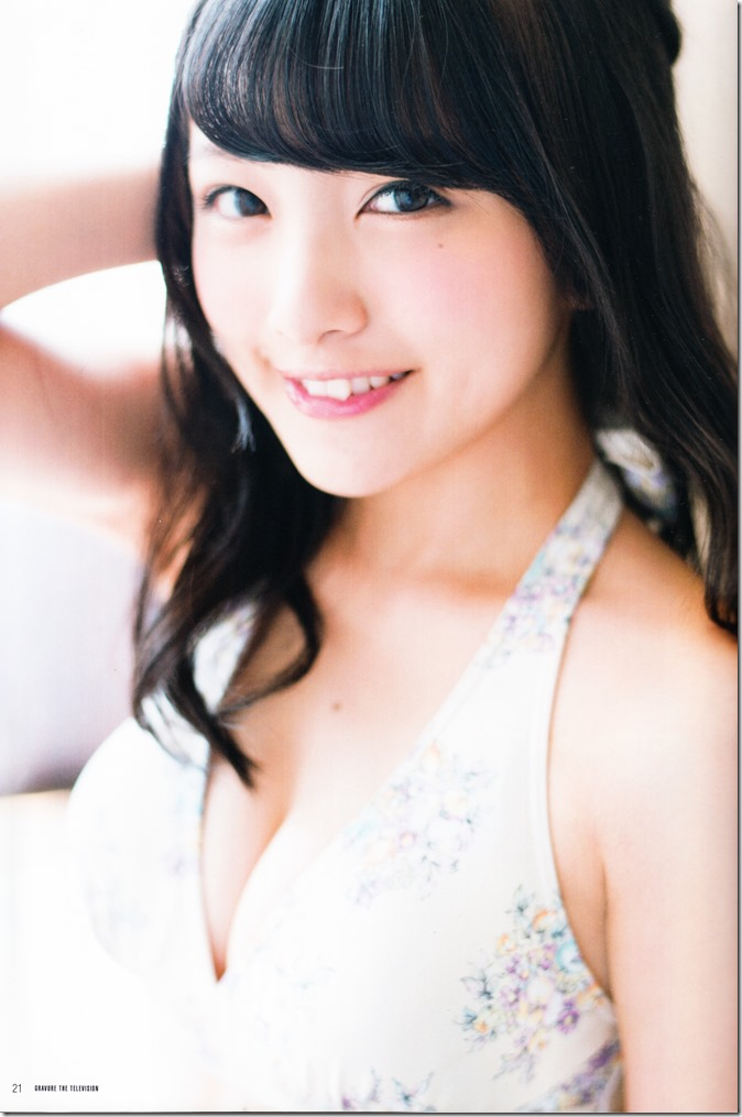GRAVURE THE TELEVISION Vol.40 June 2nd, 2015 issue featuring Covergirl Miyawaki Sakura (23)