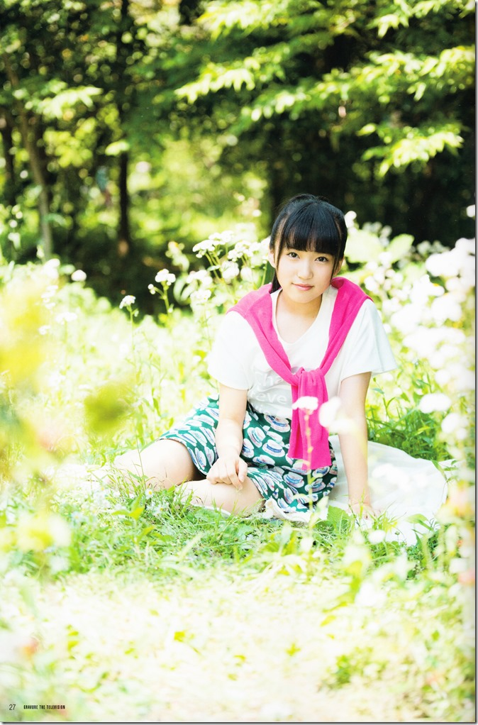 GRAVURE THE TELEVISION Vol.40 June 2nd, 2015 issue featuring Covergirl Miyawaki Sakura (29)