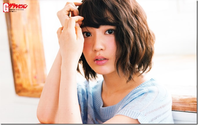 GRAVURE THE TELEVISION Vol.40 June 2nd, 2015 issue featuring Covergirl Miyawaki Sakura (2)