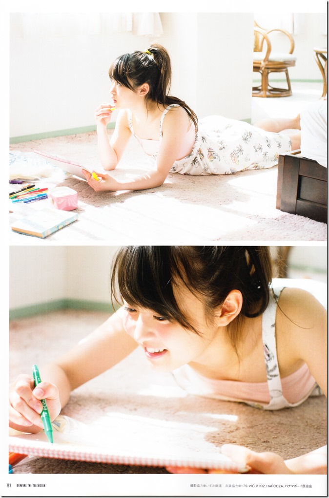 GRAVURE THE TELEVISION Vol.40 June 2nd, 2015 issue featuring Covergirl Miyawaki Sakura (41)