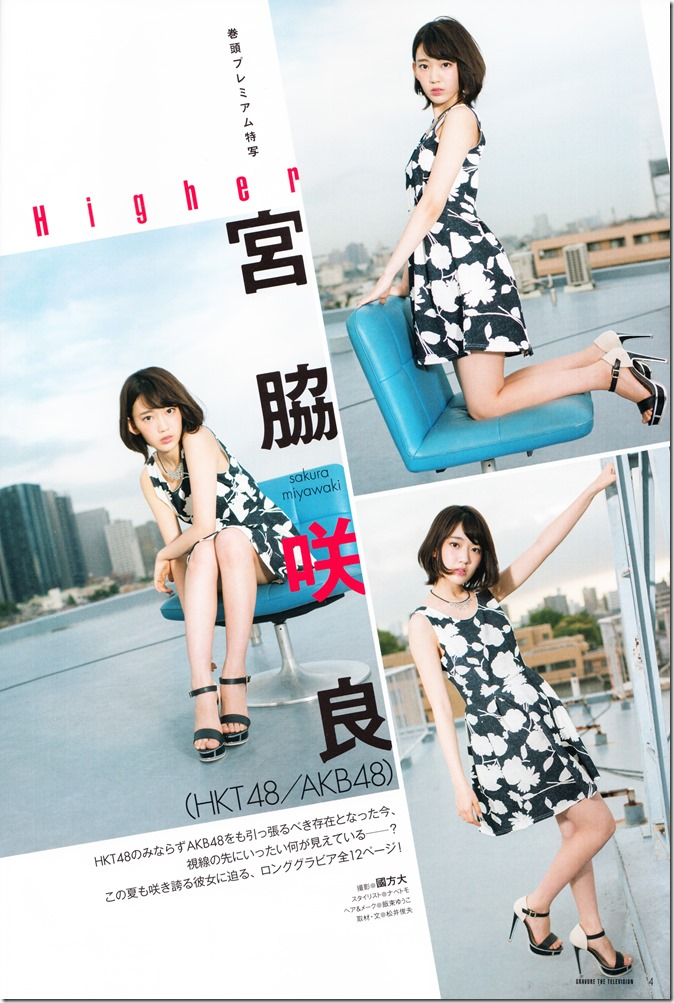 GRAVURE THE TELEVISION Vol.40 June 2nd, 2015 issue featuring Covergirl Miyawaki Sakura (6)