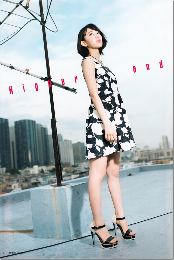 GRAVURE THE TELEVISION Vol.40 June 2nd, 2015 issue featuring Covergirl Miyawaki Sakura (7)