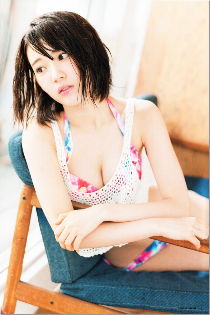 GRAVURE THE TELEVISION Vol.40 June 2nd, 2015 issue featuring Covergirl Miyawaki Sakura (8)