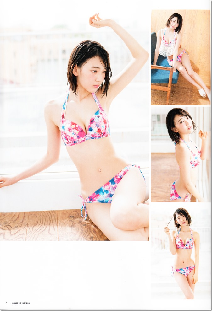 GRAVURE THE TELEVISION Vol.40 June 2nd, 2015 issue featuring Covergirl Miyawaki Sakura (9)