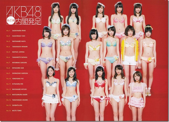 AKB48 Mizugi Surprise Announcement 2015 mook (3)