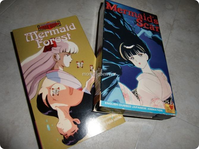 Anime movies Mermaid's Scar & Memaid Forest on VHS