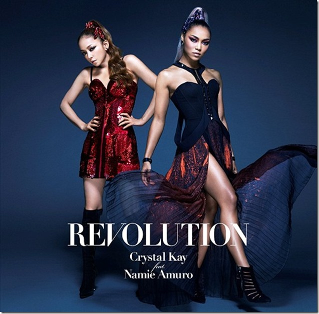 Crystal Kay Feat. Amuro Namie REVOLTION RE single cover
