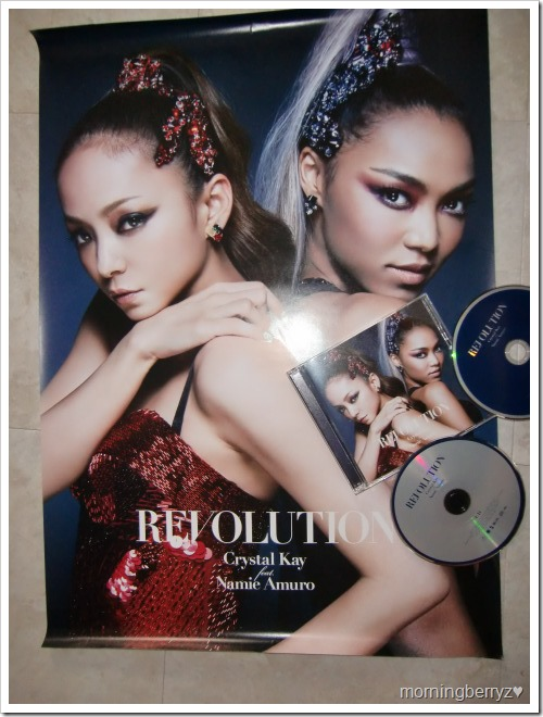 Crystal Kay Feat. Amuro Namie REVOLUTION single DVD version with first press poster