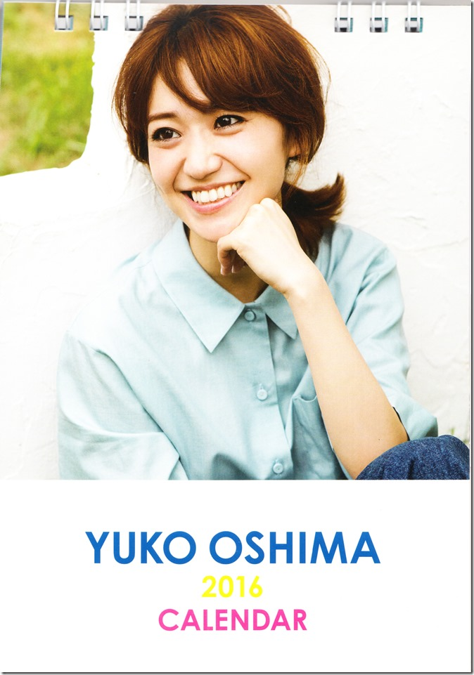 Oshima Yuko 2016 desktop calendar (1)
