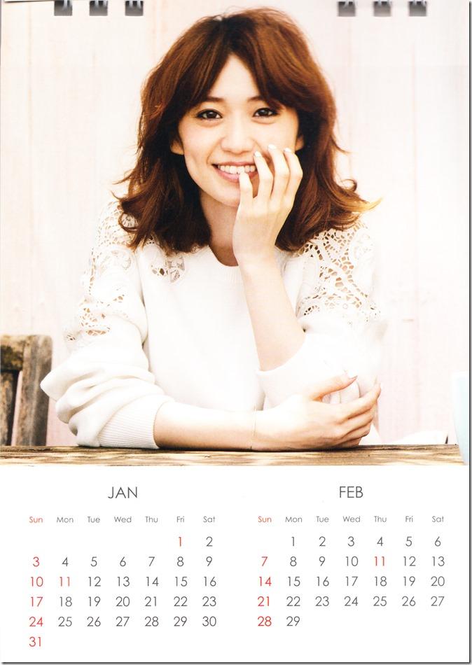 Oshima Yuko 2016 desktop calendar (2)