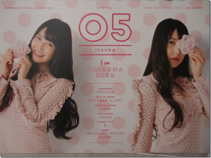 AKB48 Official 2016 Calendar (16)