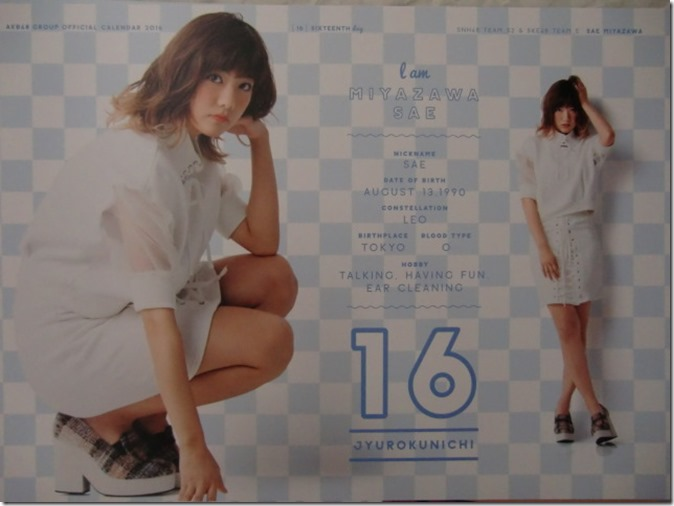 AKB48 Official 2016 Calendar (27)