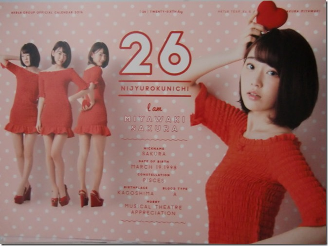 AKB48 Official 2016 Calendar (37)
