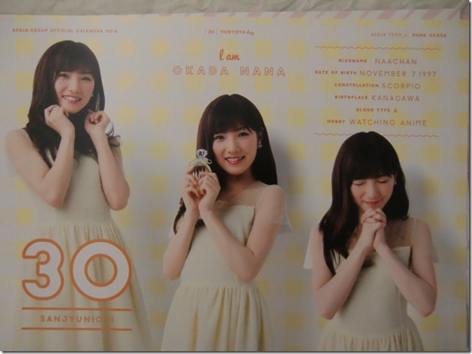 AKB48 Official 2016 Calendar (41)
