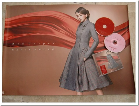 Amuro Namie Red Carpet CD plus DVD version with first press poster