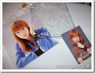 Shiina Noriko single Propose with photo card & clear jacket insert.