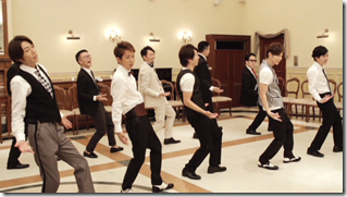 ARASHI in Ai wo sakebe making.. (3)