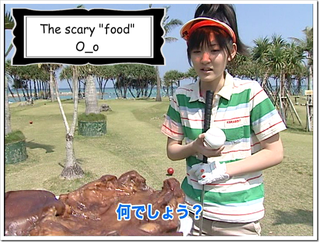 Airiin golf meets scary food!