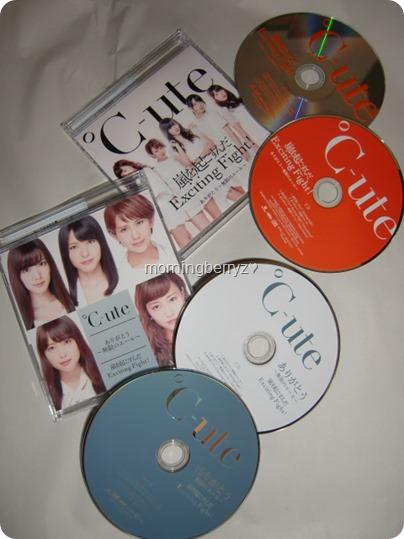 C-ute Arigatou ~mugen no yell~ & Arashi wo okosunda Exciting Fight! LE singles