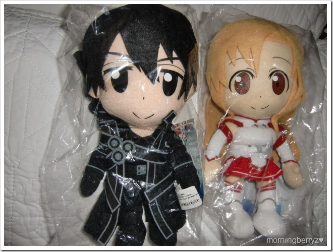 Kirito & Asuna plushies...♥!