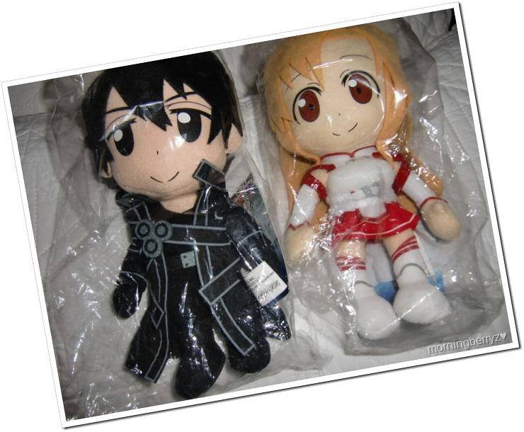Kirito & Asuna plushies♥