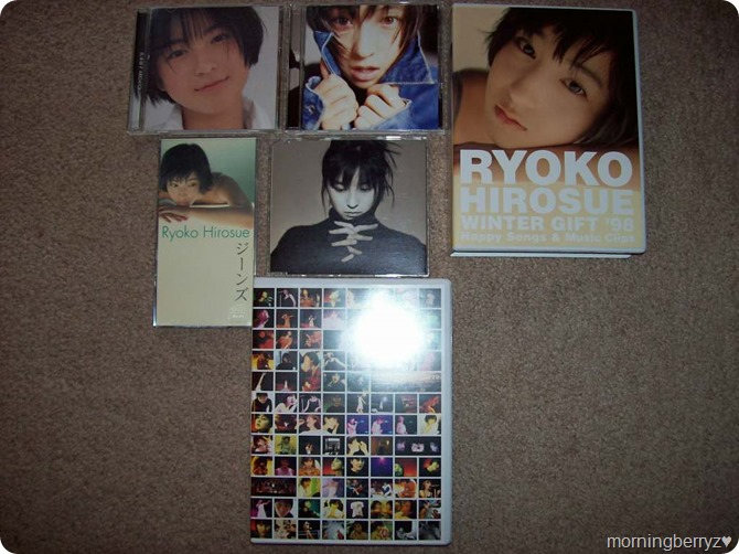 my Hirosue Ryoko music collection