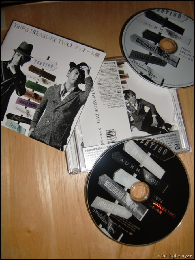 Tackey & Tsubasa TRIP & TREASURE TWO CD plus DVDalbum version