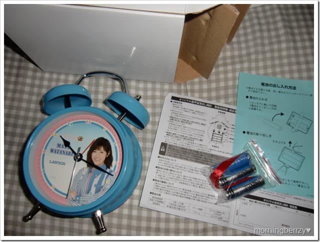 LAWSON AKB48 10th anniversary Watanabe Mayu alarm clock! (1)