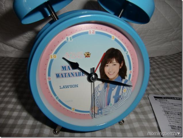 LAWSON AKB48 10th anniversary Watanabe Mayu alarm clock! (2)