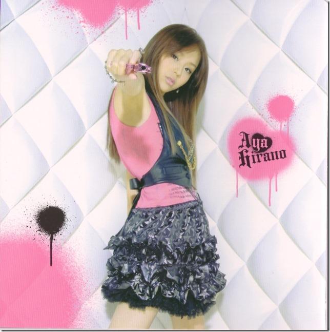 """Hirano Aya """"LOVE GUN"""" single (inner jacket scan)"""