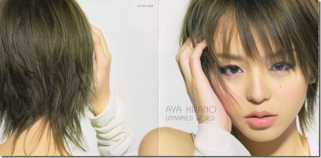 "Hirano Aya ""Unnamed World"" single (jacket scan)"