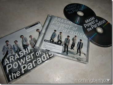 ARASHI Power of the Paradise LE & RE singles