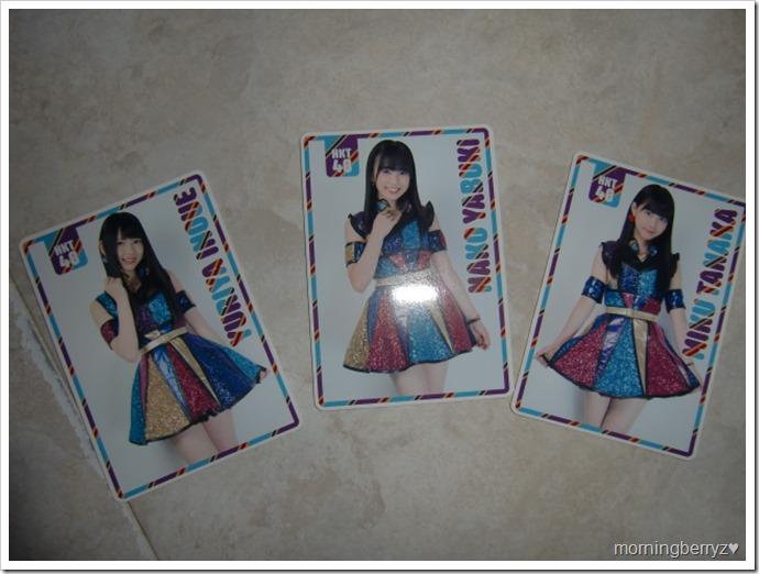 HKT48 Saikou kayo randomly inserted school calendar cards