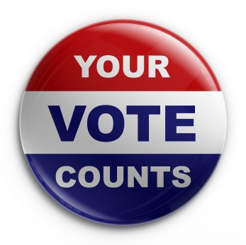 YOUR VOTE COUNTS!